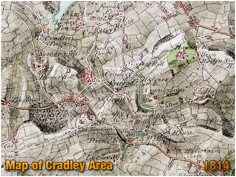 Map of the Cradley Area [1814]