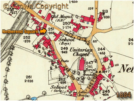 Cradley : Map extract showing Netherend [1884]
