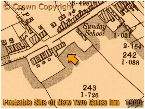 Cradley : Probable site of the New Two Gates Inn [1903]