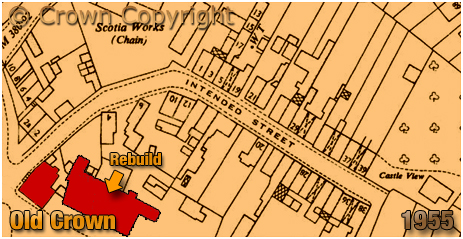 Cradley : Map extract showing High Town [1955]