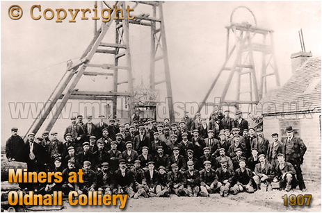 Cradley : Oldnall Colliery and Coal Miners [c.1907]