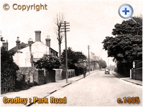 Cradley : Park Road from Cuckoo's Corner Men [c.1935]