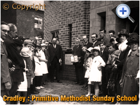 Cradley : Laying the Memorial Stones at the Primitive Methodist Sunday School [1925]