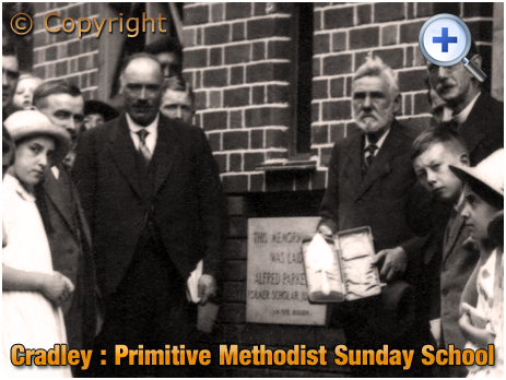 Cradley : Officials at the Memorial Stone Laying of the Primitive Methodist Sunday School [1925]