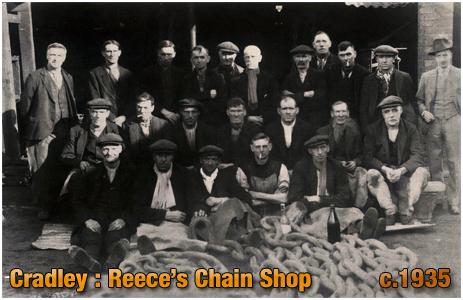 Cradley : Workers at Glen Reece's Chain Shop [c.1935]