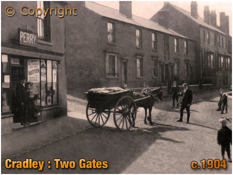 Cradley : Two Gates with Perry's grocery shop [c.1904]