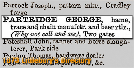 Cradley : The Why Not Call and See in Littlebury's Trade Directory [1873]