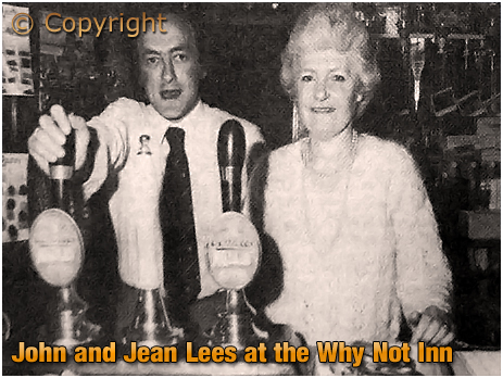 John and Jean Lees at the Why Not Inn at Two Gates in Cradley [c.1983]