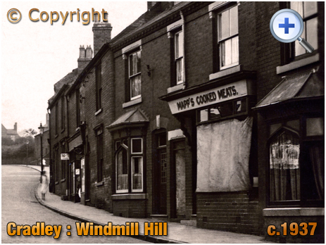Cradley : Cooked Meat Shop of George Mapp on Windmill Hill [c.1937]