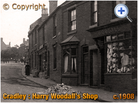 Cradley : Harry Woodall's Shop on Windmill Hill [c.1908]