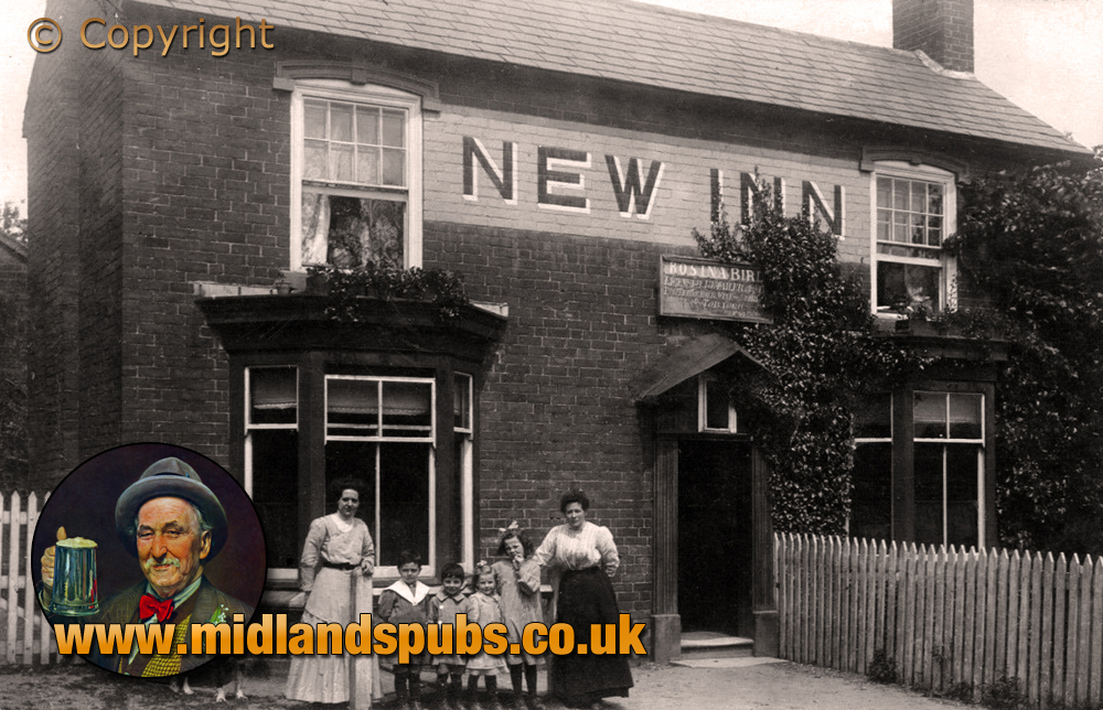 Bournheath : Rosina Bird outside the New Inn [c.1911]