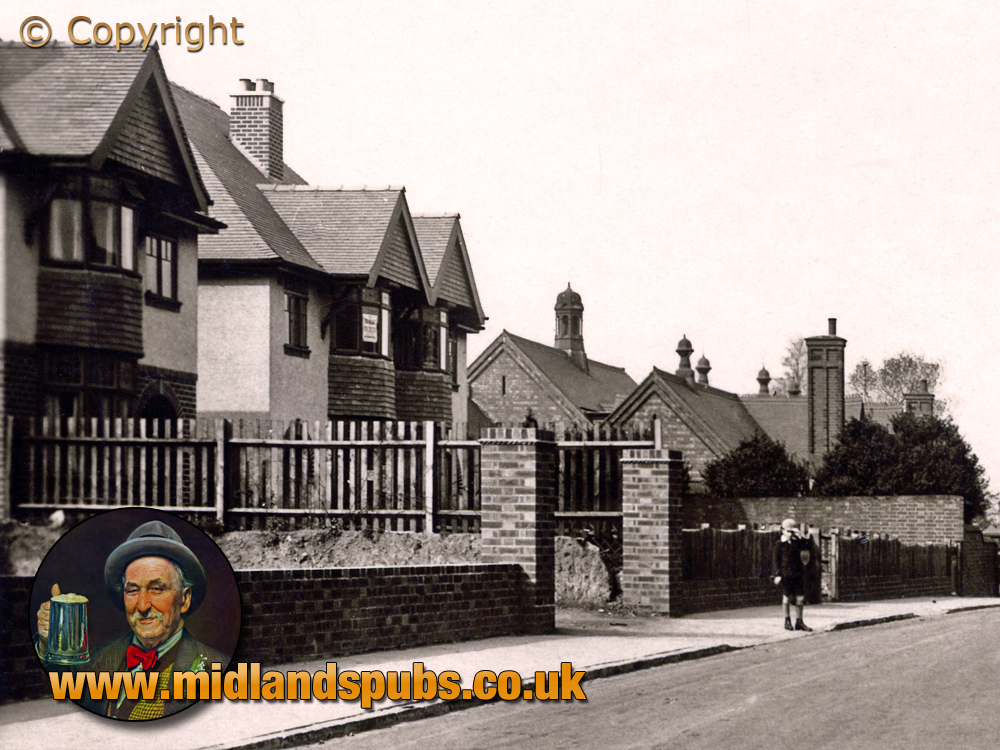Cradley : Houses and School on Colley Lane [c.1935]