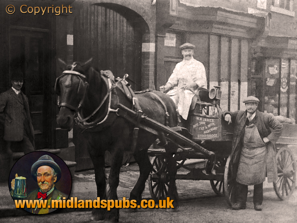 Cradley : Horse and Cart on the High Street [c.1908]