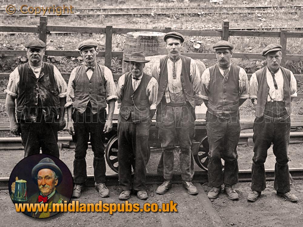 Cradley : Miners with Coal Truck [c.1908]