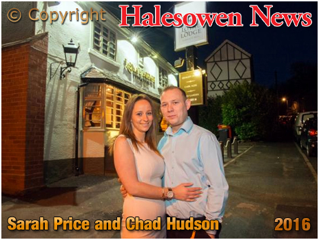 Halesowen News : Sarah Price and Chad Hudson outside the Loyal Lodge at Furnace Hill [Photo courtesy of Halesowen News 2016]