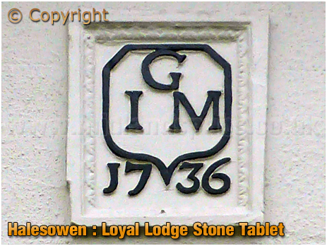 Halesowen : Dated Stone Tablet at the Loyal Lodge on Furnace Hill [2019]