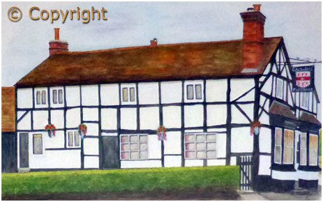 Watercolour Painting of the Galton Arms by Alan Jones [2015]