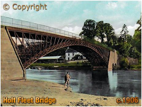 Holt : The Bridge at Holt Fleet [c.1906]