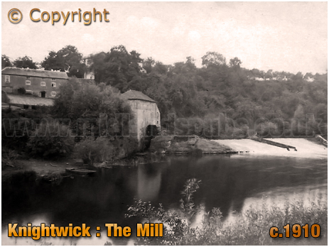 Knightwick : The Mill and River Teme [c.1910]
