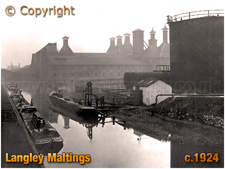 Langley : Maltings and Canal [c.1924]