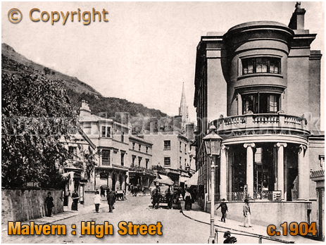Malvern : High Street and Royal Library [c.1904]