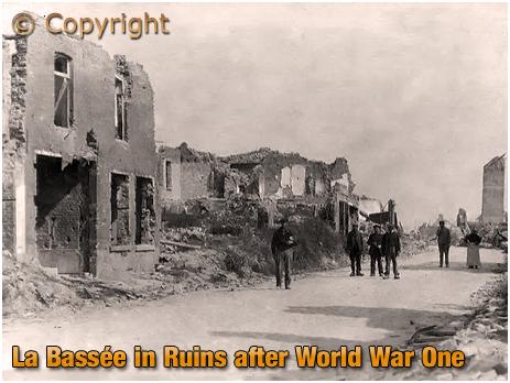 La Bassée in ruins after World War One