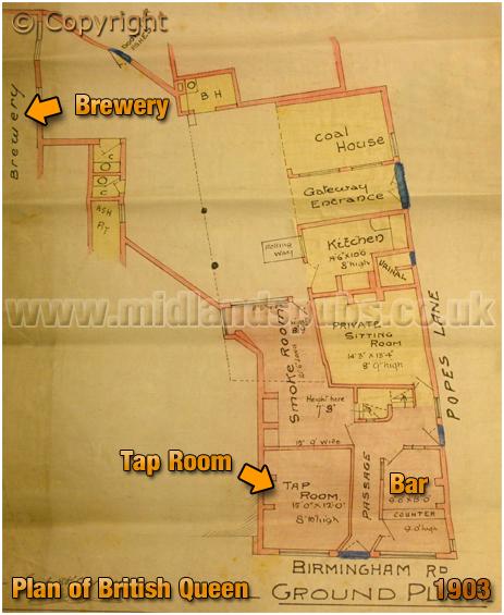 Oldbury : Ground Floor Plan of the British Queen [1905]