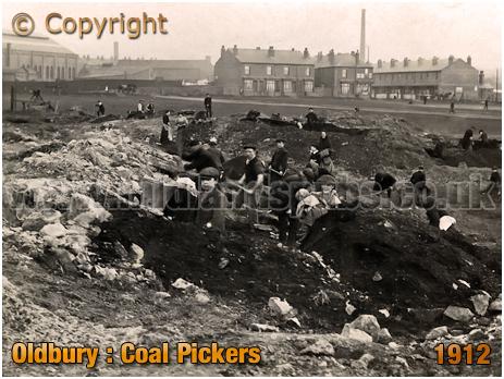 Oldbury : Coal Pickers during Strike [c.1912]