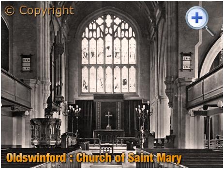 Oldswinford : Interior of the Parish Church of Saint Mary [c.1912]