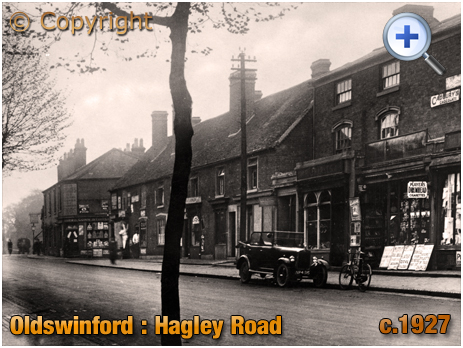 Oldswinford : Hagley Road Shops [c.1927]