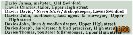 Oldswinford : David Davies in a Post Office Directory [1850]
