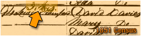 Oldswinford : Census entry for the Three Stars [1851]