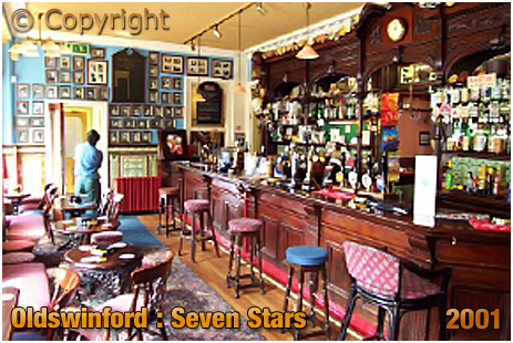 Oldswinford : Servery and Bar of the Seven Stars [2001]