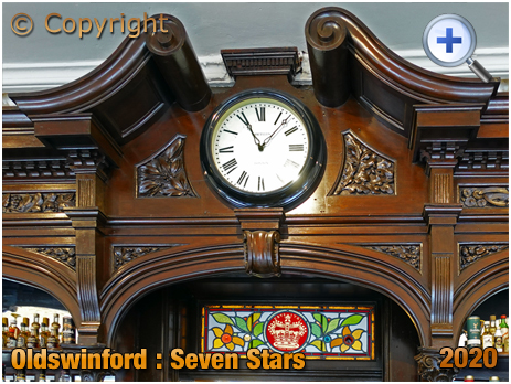 Oldswinford : Pediment of the Back Bar in the Seven Stars [2020]