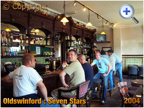 Oldswinford : Customers in the bar of the Seven Stars [2004]