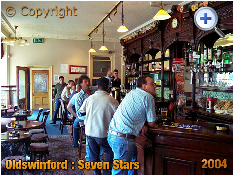 Oldswinford : Drinkers inside the bar of the Seven Stars [2004]