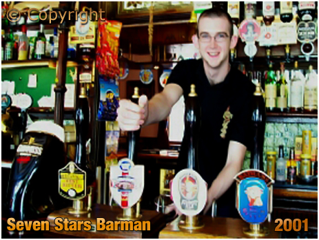 Oldswinford : Barman at the Seven Stars [2001]