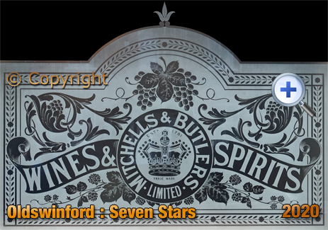 Oldswinford : Etched Glass Window of the Seven Stars [2020]