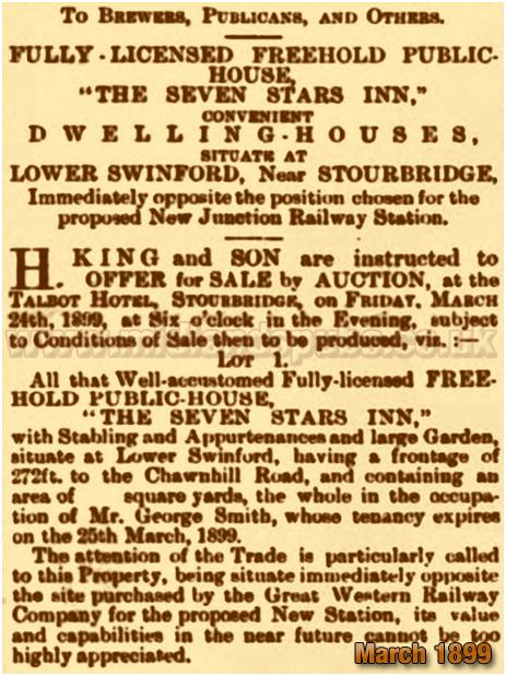 Oldswinford : Sale of the Seven Stars Inn [1899]