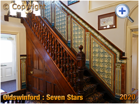 Oldswinford : Staircase at Ground Floor in the Seven Stars [2020]