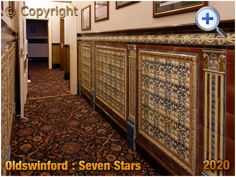 Oldswinford : Elaborate Wall Tiling at the Seven Stars [2020]