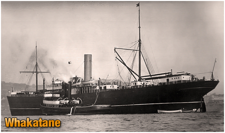 Whakatane ship owned by the New Zealand Shipping Company Limited
