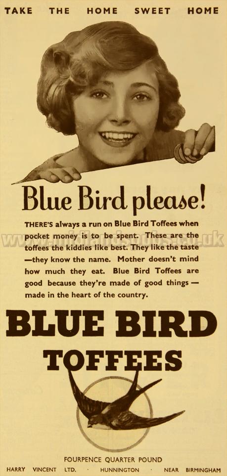 Romsley : Blue Bird Toffees Please!