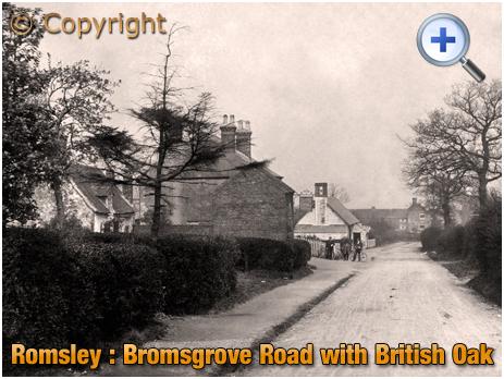 Romsley : Bromsgrove Road with British Oak and School [c.1908]