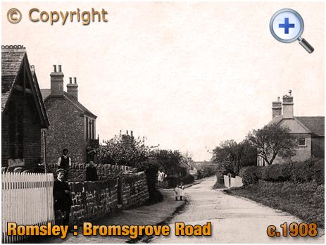 Romsley : Bromsgrove Road [c.1908]