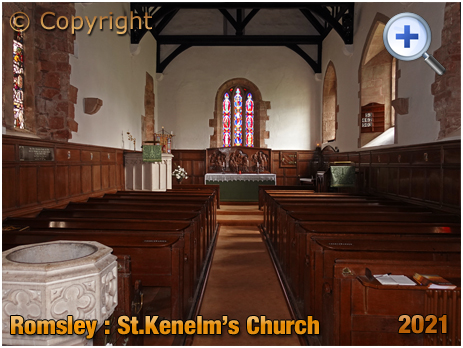 Romsley : Interior of Saint Kenelm's Church [2021]
