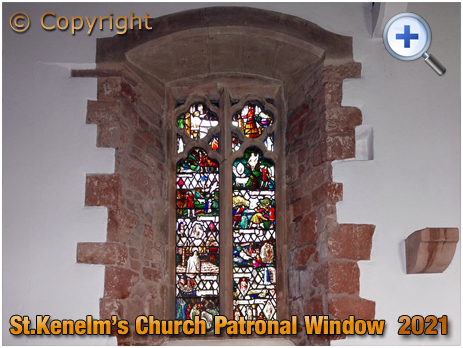 Romsley : Patronal Window of Saint Kenelm's Church [2021]