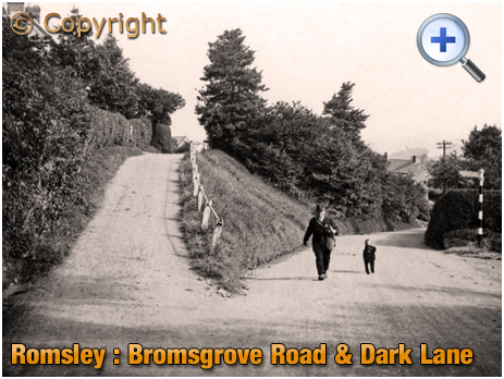 Romsley : Postman and Dog near Dark Lane [c.1928]