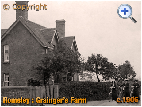 Romsley : Grainger's Farm at Back Lane [c.1906]
