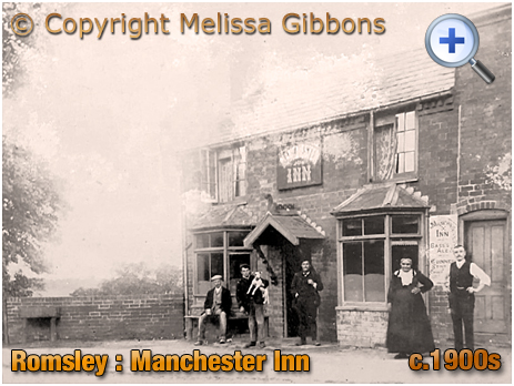 Romsley : Publican and Customers of the Manchester Inn at Dayhouse Bank [c.1900s]